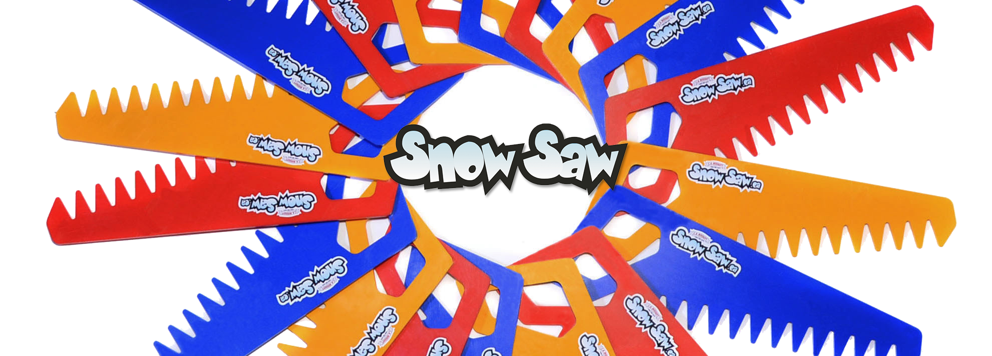 colourful winter toys snow saw youth kids