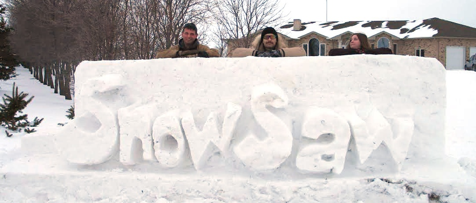 snow carving crew snow saws a winter carving toy from winnipeg